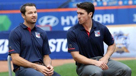 Rangers playersRick Nash and Ryan McDonagh at the