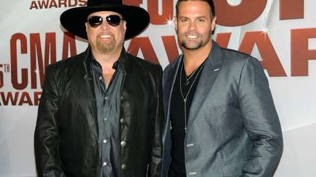 Eddie Montgomery, left, and Troy Gentry of Montgomery