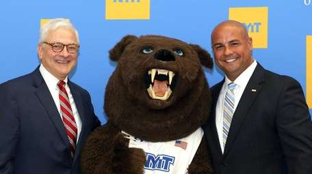 New NYIT President Hank Foley with new athletic