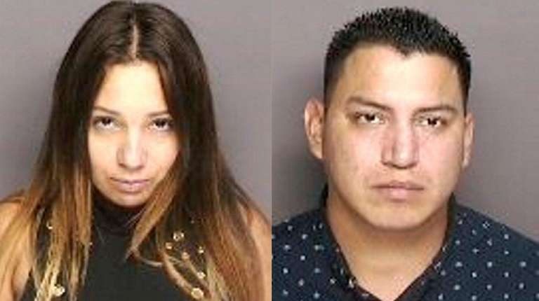 July Beltran, left, and Luis Palacios-Garzon, both from
