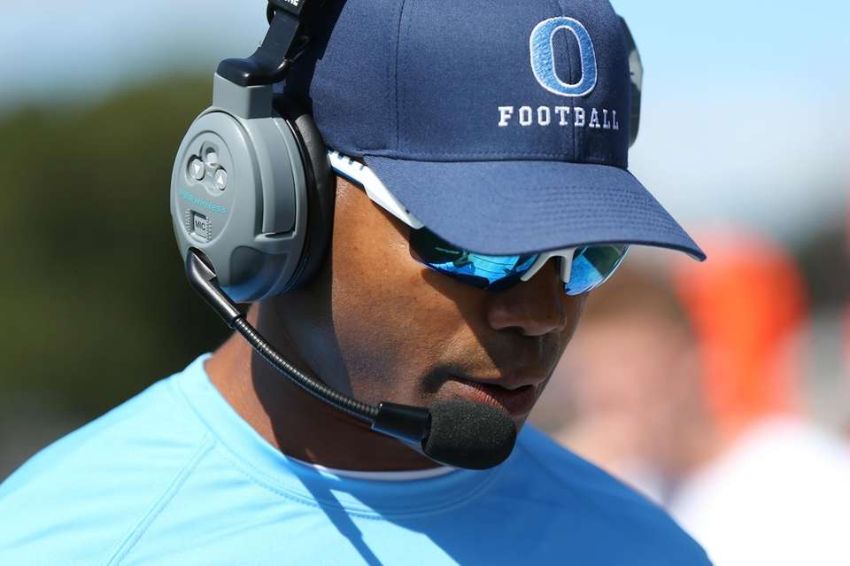 Oceanside head coach Rob Blount looks on during