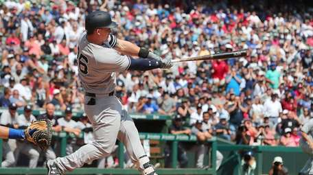Tyler Austin of the New York Yankees hits