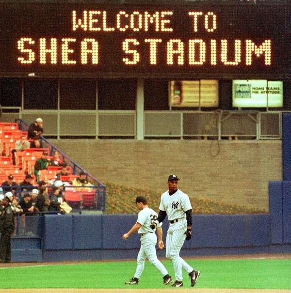The Yankees were forced to play at Shea