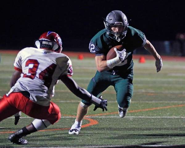 Dylan Laube scores the winning touchdown during the