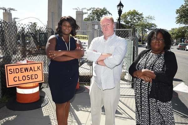 Latoya James, left, Ian Lyons and Priscilla A.