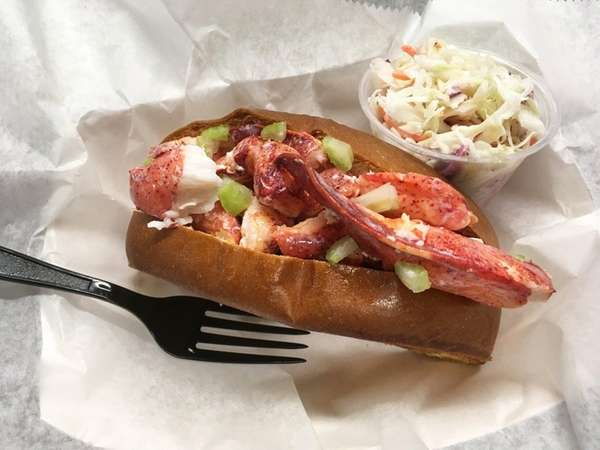 A Maine lobster roll at DJ's Clam Shack