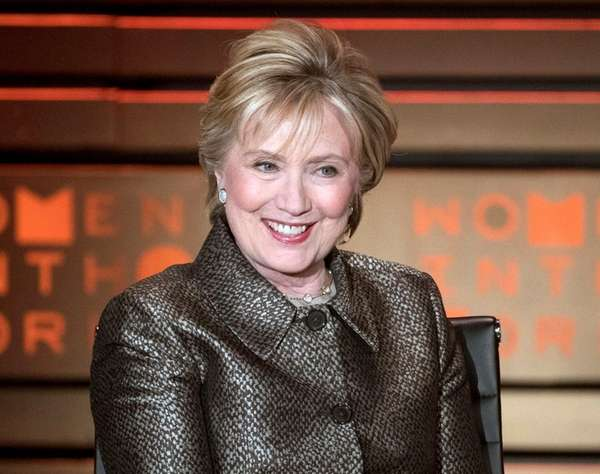 Hillary Clinton speaks during the Women in the