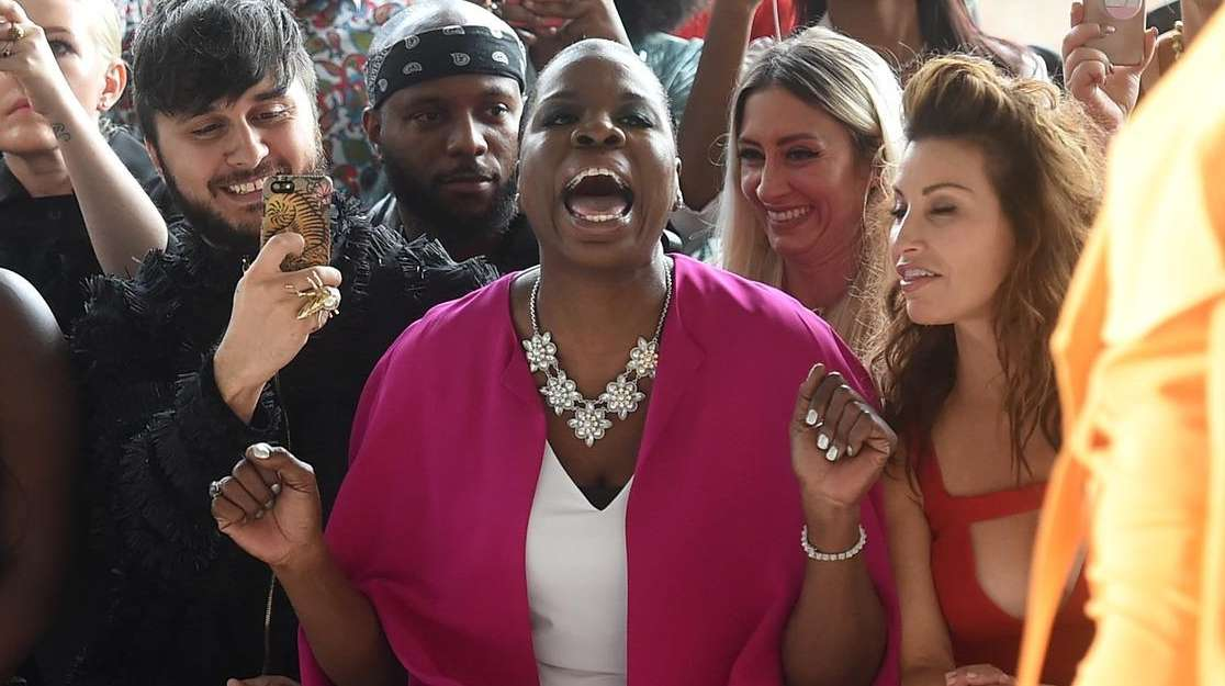 Leslie Jones attends the Christian Siriano show during