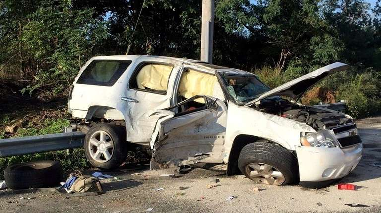 The Melville Fire Department responded to a two-vehicle