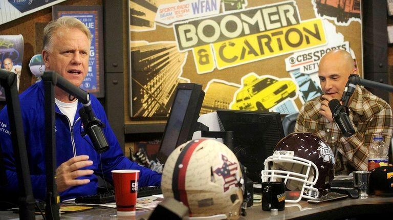 Boomer Esiason, left, and Craig Carton host WFAN's