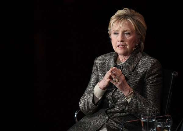 Former Secretary of State Hillary Clinton at the