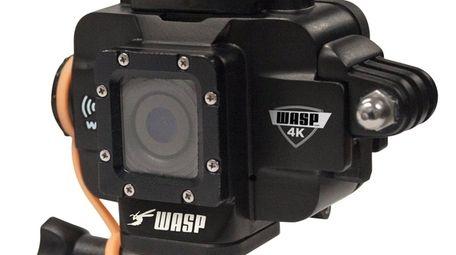 The WASPcam 9907 4K sports camera includes Wi-Fi