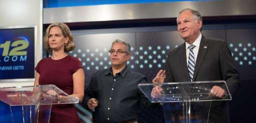 Laura Curran and George Maragos at News 12