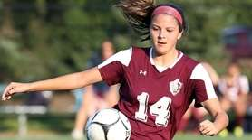 North Shore's Selena Fortich controls the ball during