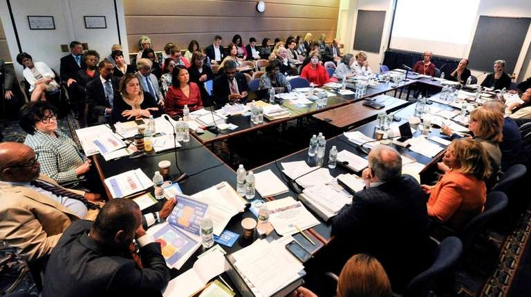 The state Board of Regents discusses regulations during
