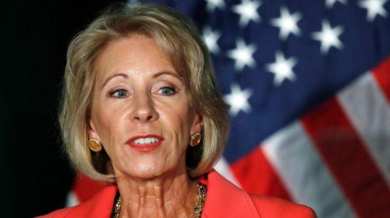Education Secretary Betsy DeVos speaks about campus sexual