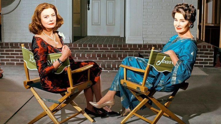 Susan Sarandon, left, as Bette Davis, and Jessica