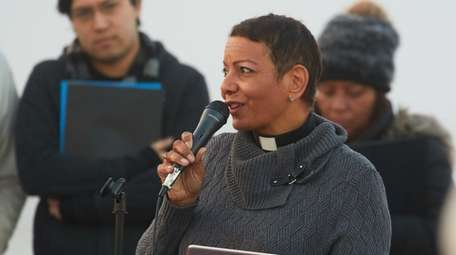 The Rev. Dyanne Pina, seen here on April
