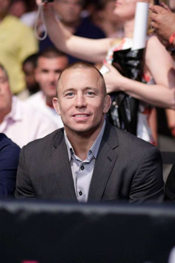Georges St-Pierre in attendance at UFC 200 at