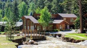 Estes Park, Colo., shortly after flooding abated in