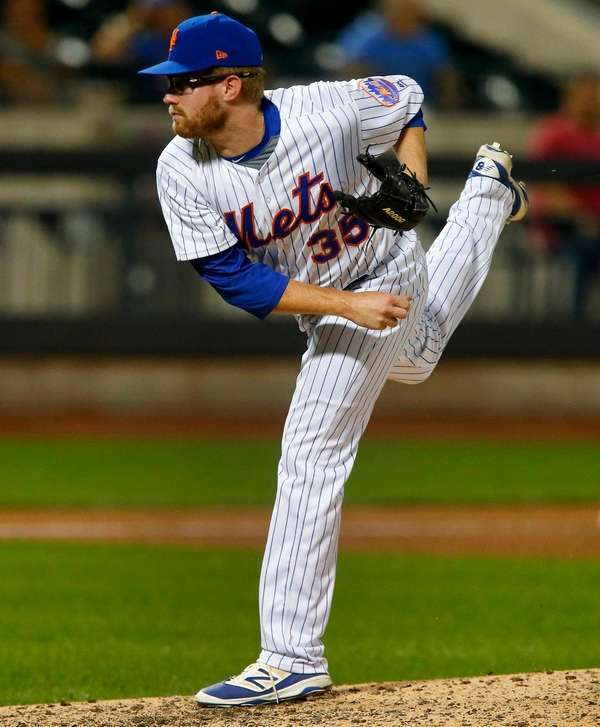 Mets pitcher Jacob Rhame pitches against the Phillies at Citi