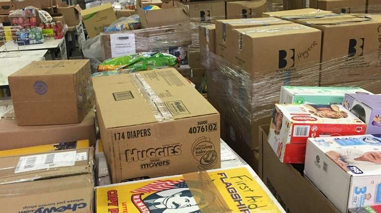 Food and supplies by the tons donated by