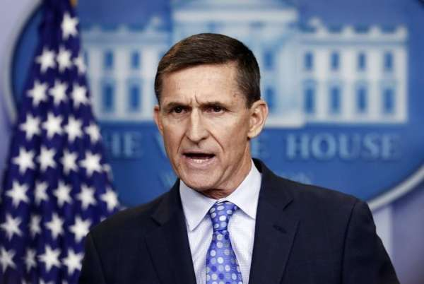 Michael Flynn is seen here on Feb. 1,