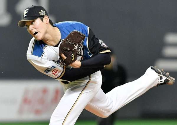 Shohei Otani of the Nippon-Ham Fighters delivers at
