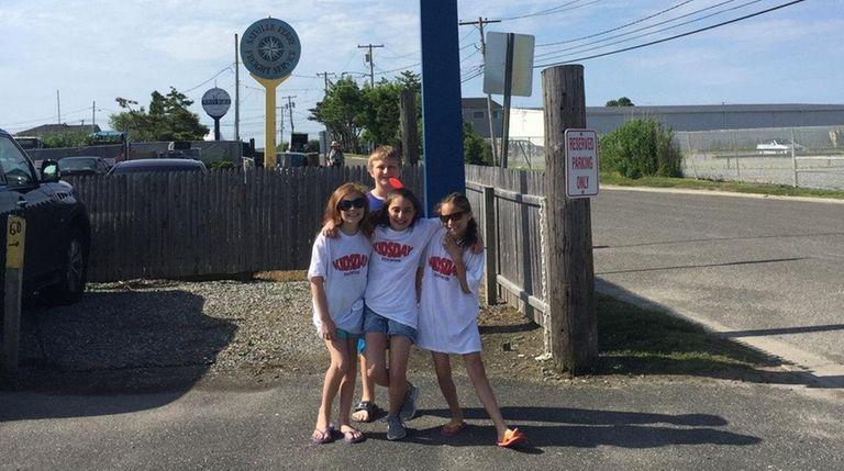 Kidsday reporters, from left, Amber Pawloski, Gioia Racanelli,
