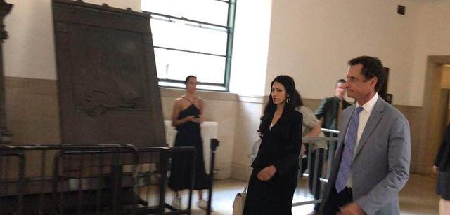 Anthony Weiner and his estranged wife, Huma Abedin,