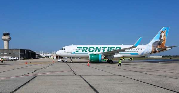 Frontier Airlines, seen here on Aug. 16, 2017,