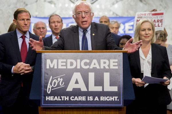 Sen. Bernie Sanders (I-Vt.) announces his bill for