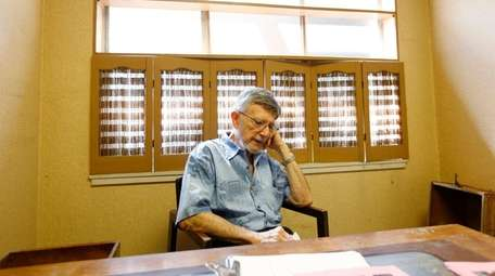 Dr. Richard Mahrer, 92, at his office in