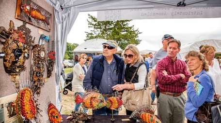 Visitors to the Westhampton Beach Festival of the