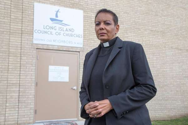 The Rev. Dyanne Pina, seen here on Wednesday,