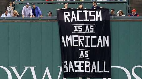 A banner with the message