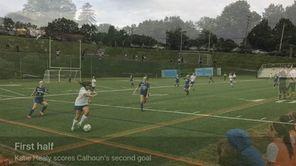 Calhoun scored three goals in the first half