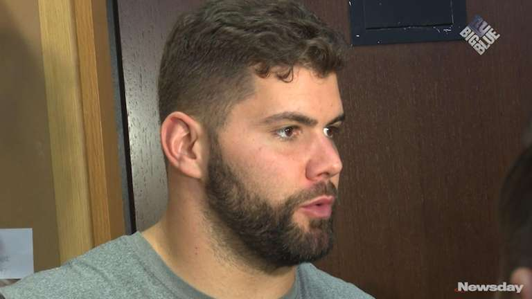 Giants offensive linemen Ereck Flowers, Justin Pugh and