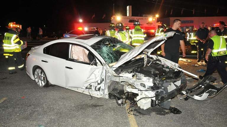 Emergency personnel respond to a crash on Jericho