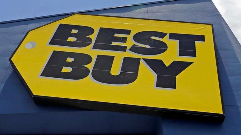 A Best Buy sign at a store in