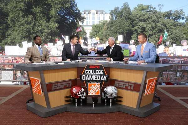Desmond Howard, Rece Davis, Lee Corso and Kirk