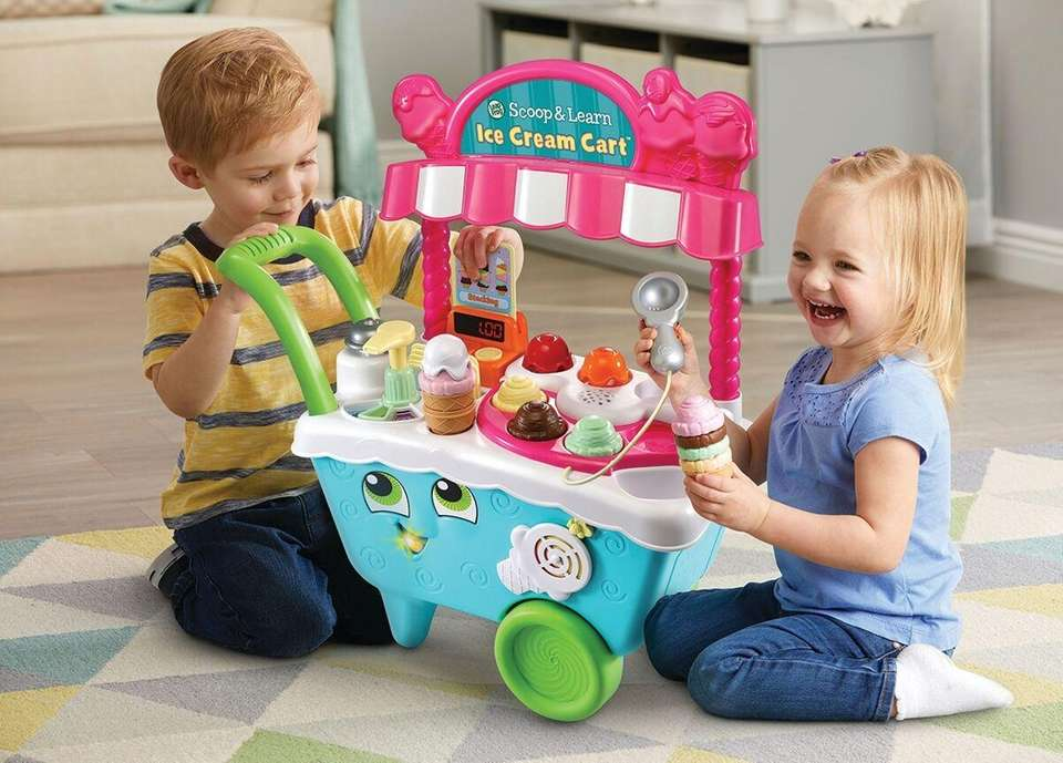 This toy ice cream cart from LeapFrog features