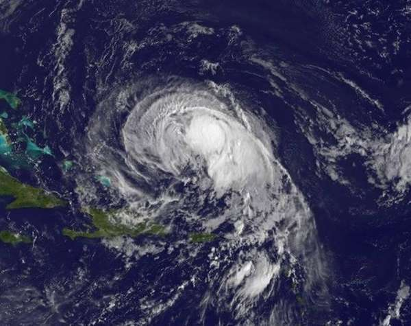 Tropical Storm Jose, as seen about 434 miles