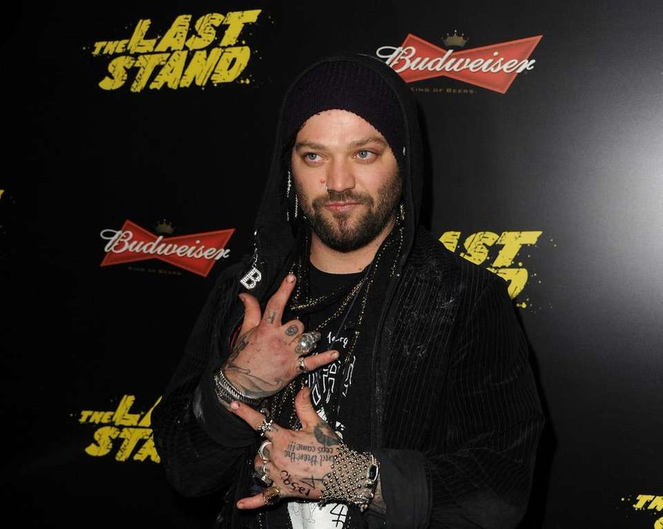 Professional skateboarder Bam Margera, along with his parents,