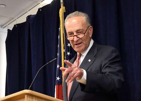 Sen. Charles Schumer speaks on Sept. 10, 2017.