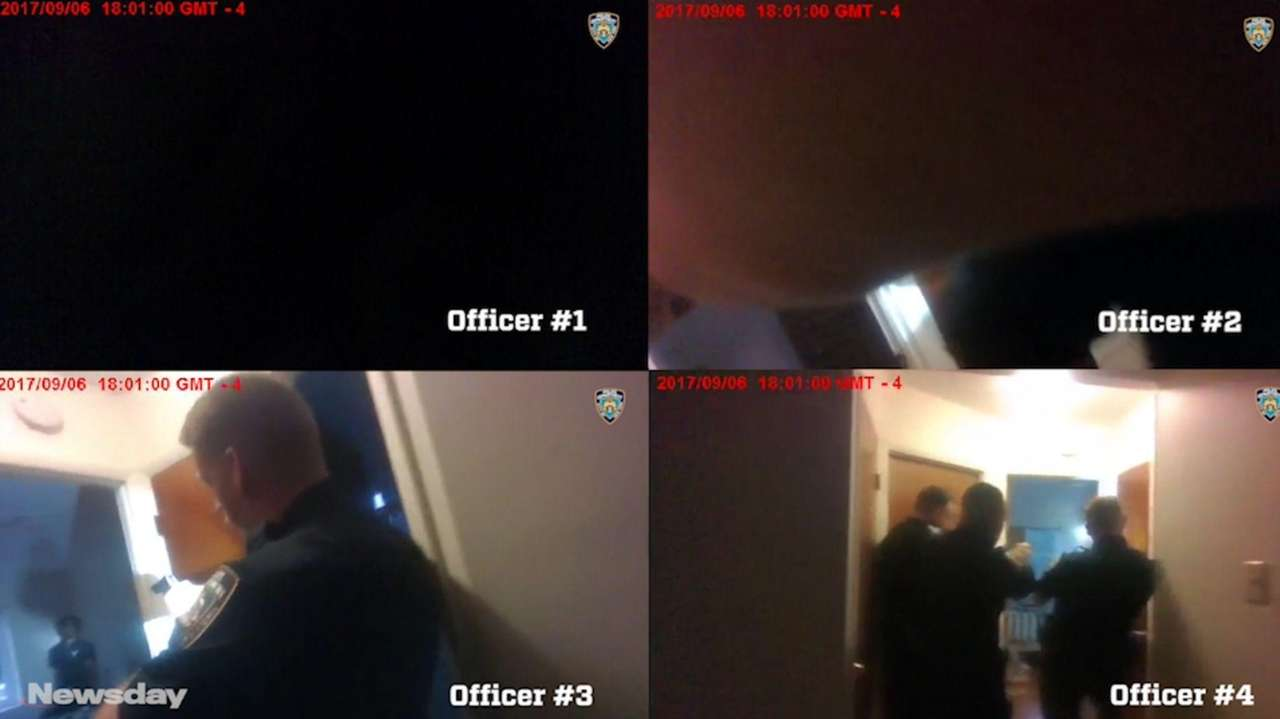 NYPD body camera videos released Thursdayshowed a deadly