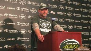 First-year Jets offensive coordinator John Morton talkedon Thursday,