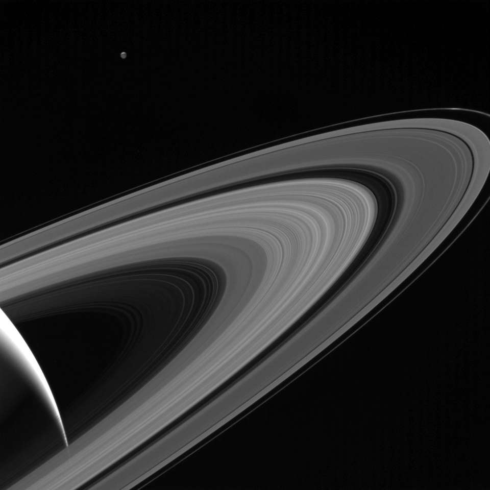 This Cassini image obtained from NASA shows the