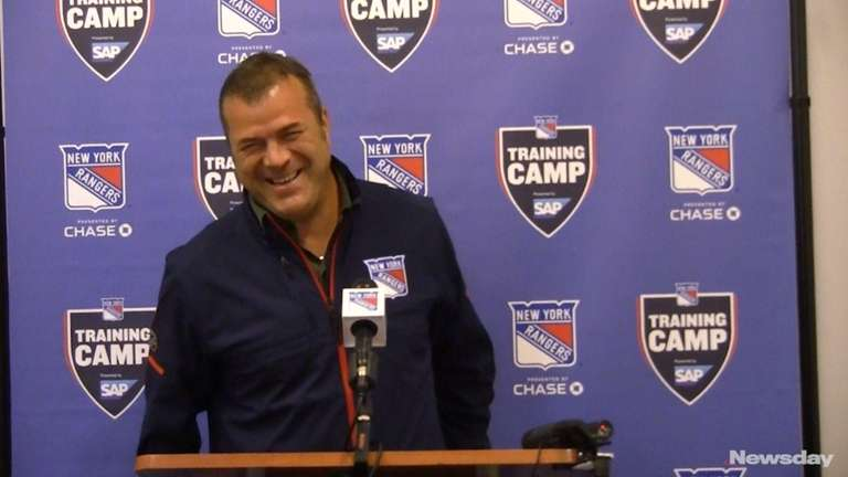 In his first meeting with the media at