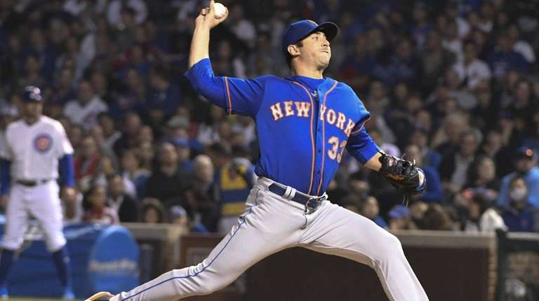 Mets pitcher Matt Harvey delivers during a game